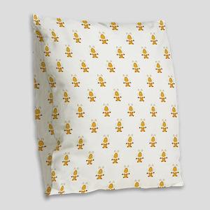 YOGA BEE Burlap Throw Pillow