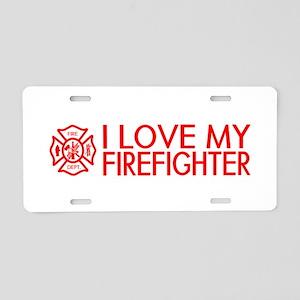Firefighter: I Love My Firefighter (Red) Aluminum
