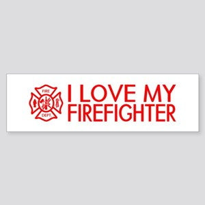 Firefighter: I Love My Firefighter (Red) Bumper St