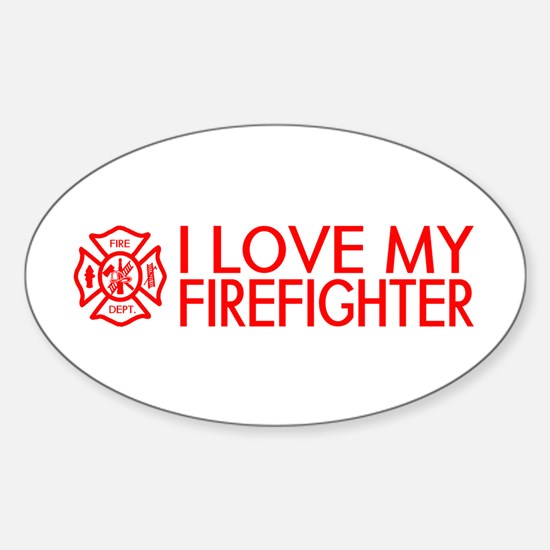 Firefighter: I Love My Firefighter (Red) Decal