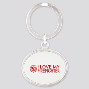 Firefighter: I Love My Firefighter (Red) Keychains