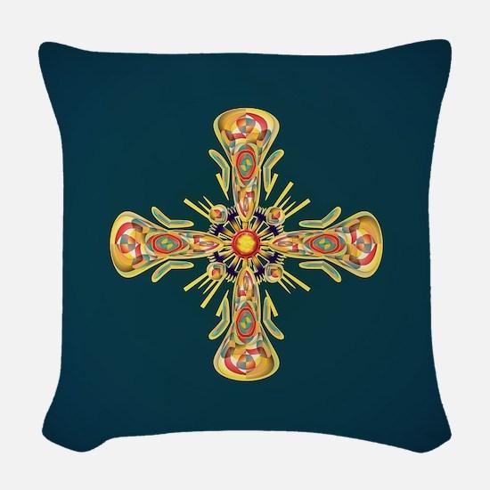 Jewelry cross Woven Throw Pillow
