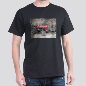 Red Tractor and Dirt Wall Dark T-Shirt