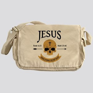 Jesus Skull Messenger Bag