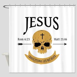 Jesus Skull Shower Curtain