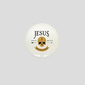 Jesus Skull Mini Button