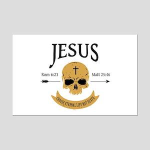Jesus Skull Mini Poster Print