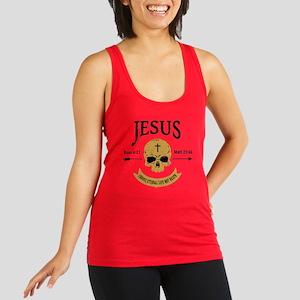 Jesus Skull Racerback Tank Top