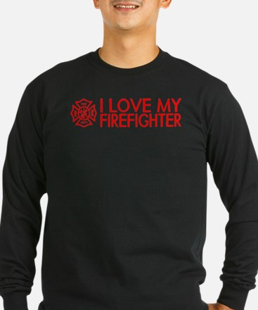 Firefighter: I Love My Firefighter (Red) T
