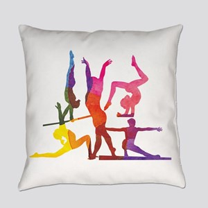Pink gymnast Everyday Pillow