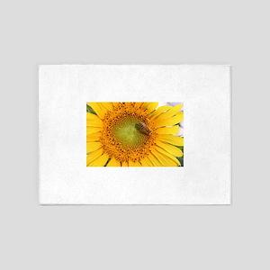 Sunflower & Bee 5'x7'Area Rug