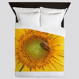 Sunflower & Bee Queen Duvet