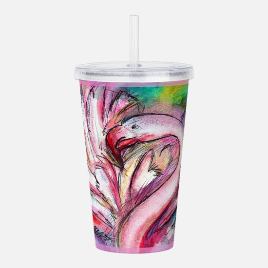 Flamingo, colorful, fun, art! Acrylic Double-wall