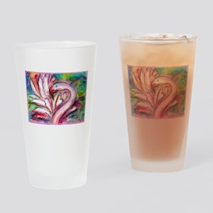 Flamingo, colorful, fun, art! Drinking Glass