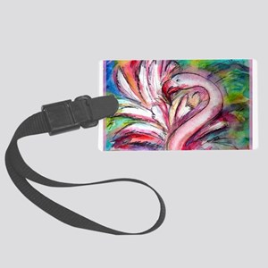 Flamingo, colorful, fun, art! Luggage Tag