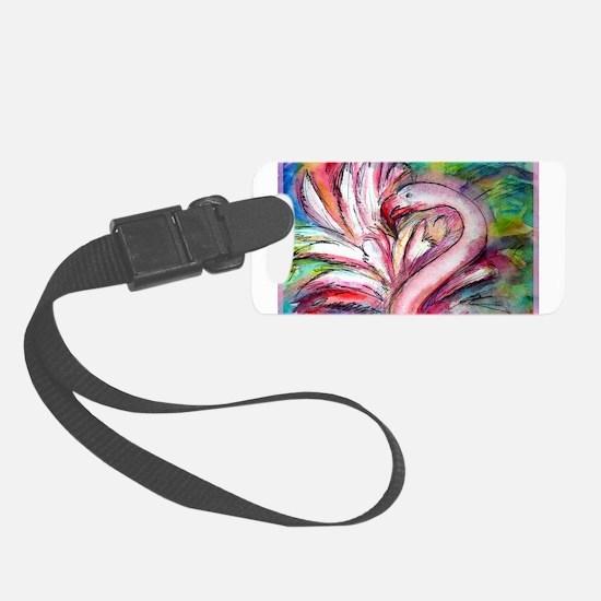 Flamingo, colorful, fun, art! Luggage Tag