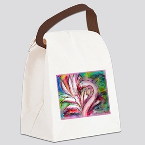 Flamingo, colorful, fun, art! Canvas Lunch Bag