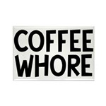 Coffee Whore Caffeine H Rectangle Magnet (10 pack)