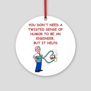 engineer Round Ornament