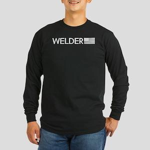 Welder: American Flag (White) Long Sleeve T-Shirt