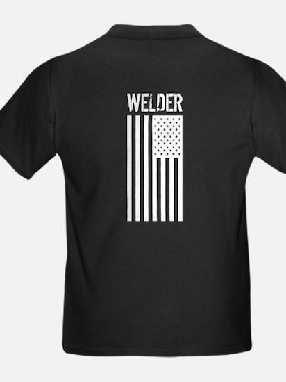 Welder: American Flag (White) T-Shirt