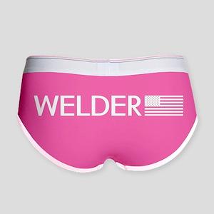 Welder: American Flag (White) Women's Boy Brief