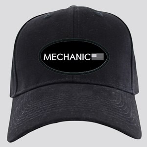 Mechanic: American Flag (White) Black Cap