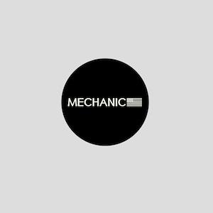 Mechanic: American Flag (White) Mini Button