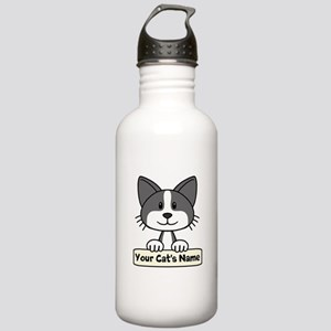 Personalized Black/Whi Stainless Water Bottle 1.0L