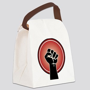 Powerful Red Feminst Symbol Canvas Lunch Bag
