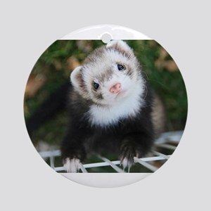 Noodle The Ferret Round Ornament