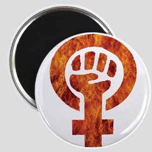 Bold Graphic Feminist Fire Symbol Magnets