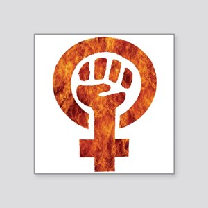 Bold Graphic Feminist Fire Symbol Sticker