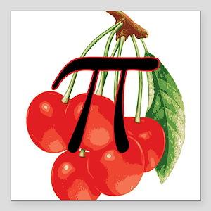 "Moms Delicious Cherry Pi Square Car Magnet 3"" x 3"""