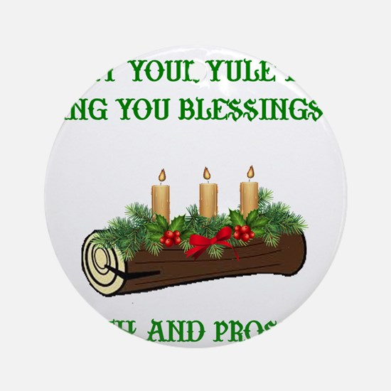Cute Pagan yule Round Ornament
