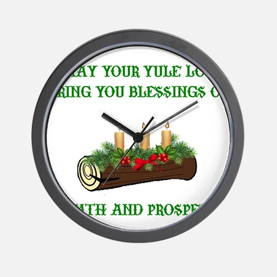 Cute Yule Wall Clock