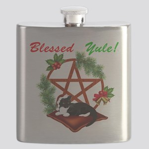 Blessed Yule Cat Flask