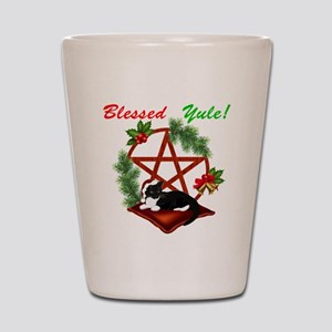 Blessed Yule Cat Shot Glass