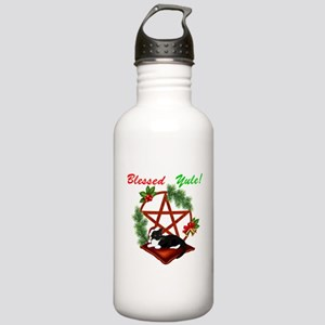 Blessed Yule Cat Water Bottle