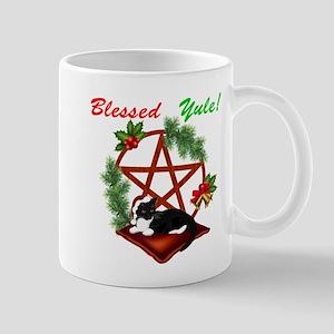 Blessed Yule Cat Mugs