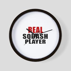 Real Squash Wall Clock