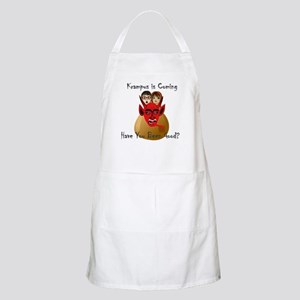 Krampus is Coming Have You Been Good? Apron