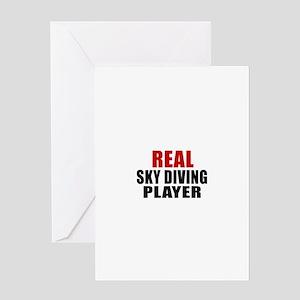 Real Sky diving Greeting Card