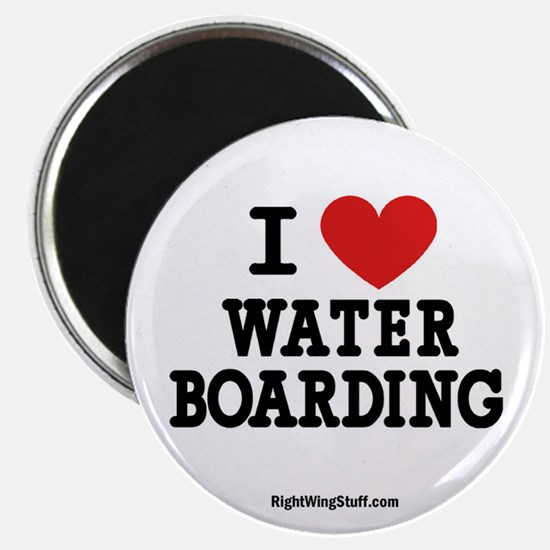 """I Love Water Boarding 2.25"""" Magnet (10 pack)"""