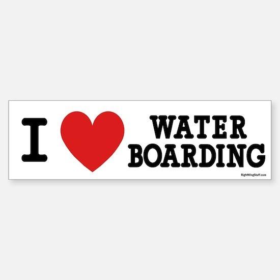 I Love Water Boarding Bumper Bumper Bumper Sticker
