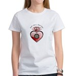 Breakin' Hearts and Throwin' Darts Women's T-Shirt