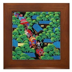 Village Procession Framed Tile