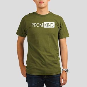 Prom King (White) Organic Men's T-Shirt (dark)
