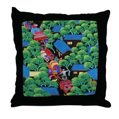 Village Procession Throw Pillow
