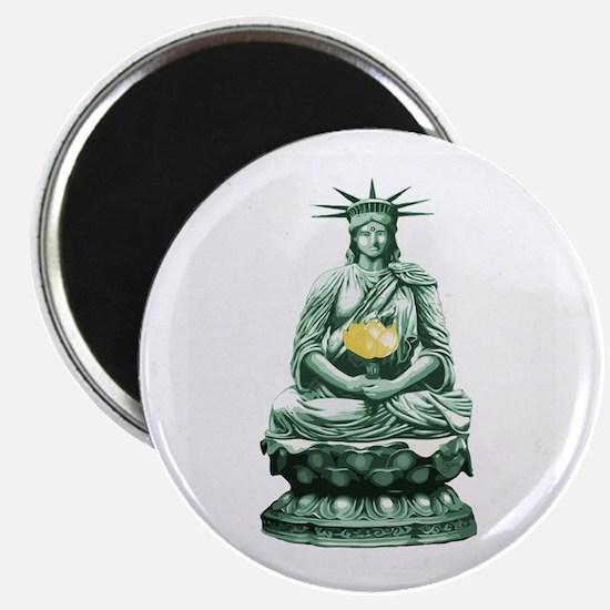 "Liberty Buddha 2.25"" Magnet (100 pack)"